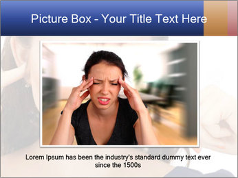 Woman with fingers in ears PowerPoint Template - Slide 16