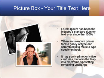 Woman with fingers in ears PowerPoint Template - Slide 20