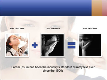 Woman with fingers in ears PowerPoint Template - Slide 22