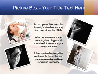 Woman with fingers in ears PowerPoint Template - Slide 24