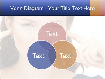 Woman with fingers in ears PowerPoint Template - Slide 33