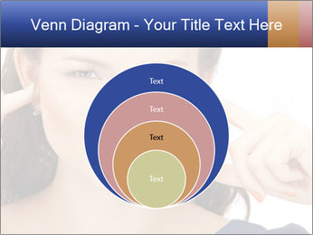 Woman with fingers in ears PowerPoint Template - Slide 34