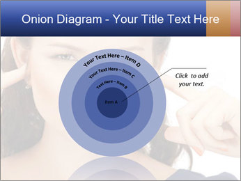 Woman with fingers in ears PowerPoint Template - Slide 61