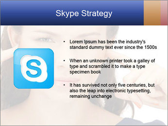 Woman with fingers in ears PowerPoint Template - Slide 8