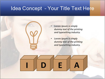 Woman with fingers in ears PowerPoint Template - Slide 80