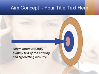 Woman with fingers in ears PowerPoint Template - Slide 83