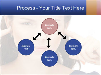 Woman with fingers in ears PowerPoint Template - Slide 91