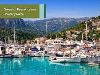 Port de Soller view PowerPoint Template