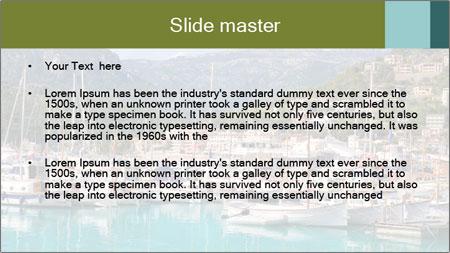 Port de Soller view PowerPoint Template - Slide 2
