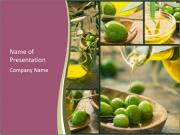 Olive harvest collage PowerPoint Templates