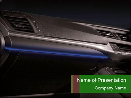 Business car interior PowerPoint Templates