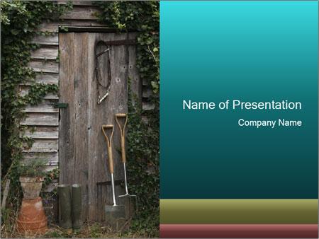 Rustic Old Garden PowerPoint Template