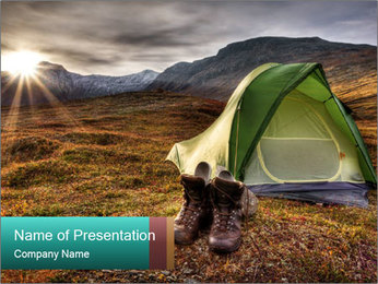 Camping in the wilderness PowerPoint Template - Slide 1