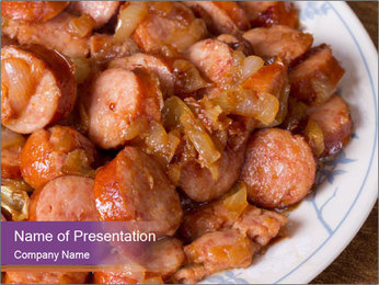 Traditional meat PowerPoint Template - Slide 1