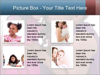African mother kissing her daughter PowerPoint Template - Slide 14