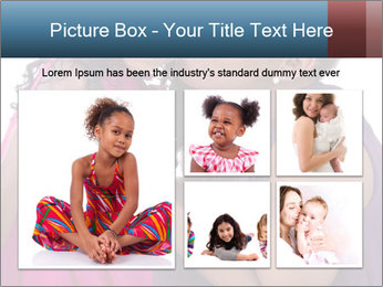 African mother kissing her daughter PowerPoint Template - Slide 19
