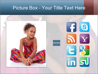 African mother kissing her daughter PowerPoint Template - Slide 21