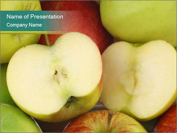 Mixed fresh apples PowerPoint Template