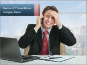 Frustrated business man PowerPoint Template