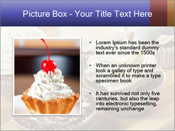Chocolate muffin with vanilla cream PowerPoint Template - Slide 13