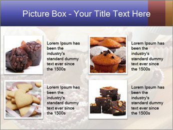 Chocolate muffin with vanilla cream PowerPoint Template - Slide 14