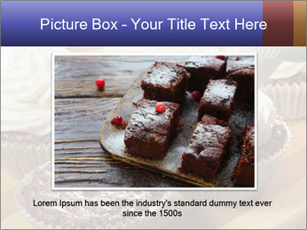 Chocolate muffin with vanilla cream PowerPoint Template - Slide 16