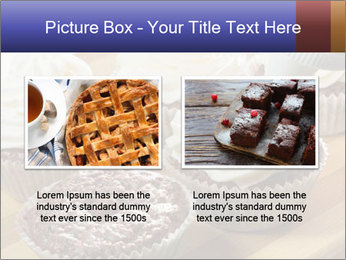 Chocolate muffin with vanilla cream PowerPoint Template - Slide 18
