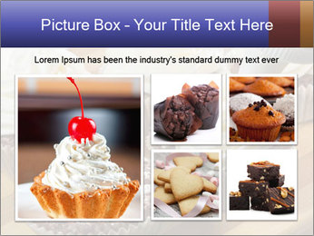 Chocolate muffin with vanilla cream PowerPoint Template - Slide 19