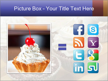 Chocolate muffin with vanilla cream PowerPoint Template - Slide 21