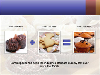 Chocolate muffin with vanilla cream PowerPoint Template - Slide 22