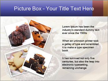 Chocolate muffin with vanilla cream PowerPoint Template - Slide 23