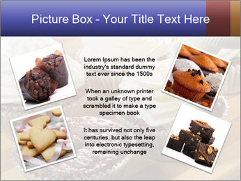 Chocolate muffin with vanilla cream PowerPoint Template - Slide 24