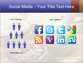 Chocolate muffin with vanilla cream PowerPoint Template - Slide 5