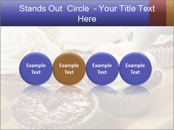 Chocolate muffin with vanilla cream PowerPoint Template - Slide 76