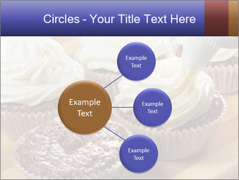 Chocolate muffin with vanilla cream PowerPoint Template - Slide 79