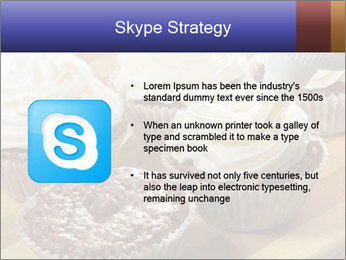 Chocolate muffin with vanilla cream PowerPoint Template - Slide 8