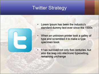 Chocolate muffin with vanilla cream PowerPoint Template - Slide 9