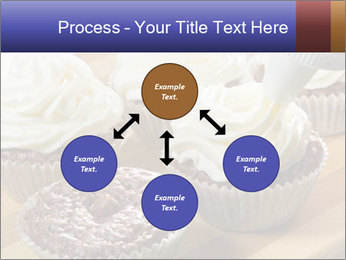 Chocolate muffin with vanilla cream PowerPoint Template - Slide 91