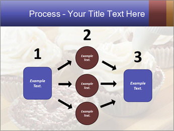 Chocolate muffin with vanilla cream PowerPoint Template - Slide 92