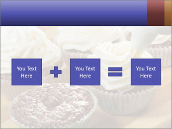 Chocolate muffin with vanilla cream PowerPoint Template - Slide 95