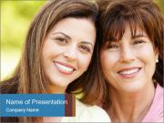 Portrait Hispanic mother PowerPoint Templates
