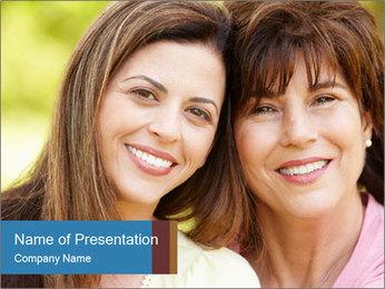 Portrait Hispanic mother PowerPoint Template - Slide 1