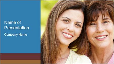 Portrait Hispanic mother PowerPoint Template