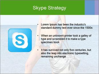 Beautiful model wearing jeans PowerPoint Templates - Slide 8