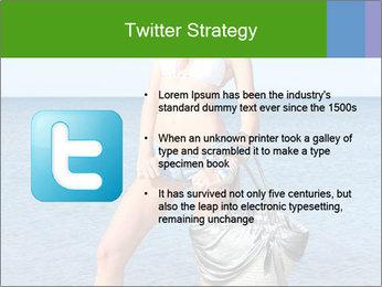 Beautiful model wearing jeans PowerPoint Templates - Slide 9