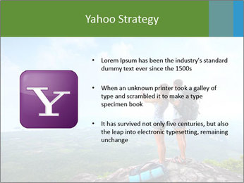 Young tourists from top of a mountain PowerPoint Template - Slide 11