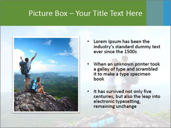Young tourists from top of a mountain PowerPoint Template - Slide 13