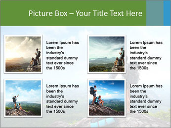 Young tourists from top of a mountain PowerPoint Template - Slide 14