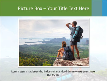 Young tourists from top of a mountain PowerPoint Template - Slide 15