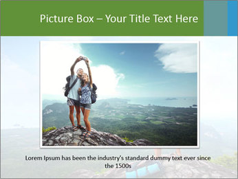 Young tourists from top of a mountain PowerPoint Template - Slide 16